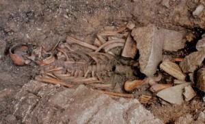 Skelett des Mannes von Mondeval. CC-BY Bortolo De Vido