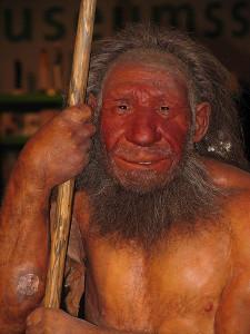 Rekonstruktion Neandertaler, CC-BY Stefan Scheer